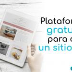 Plataformas gratuitas para crear un sitio web