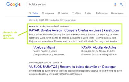 imagen de ejemplo de publicidad en google ads
